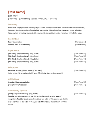 Resume and cover letter chronological  Office Templates