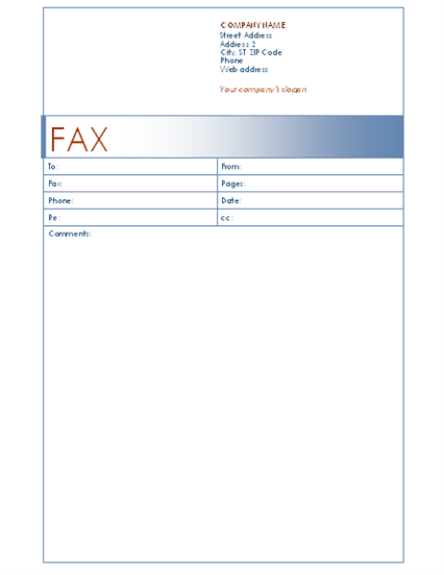 fax cover letter sample word – Fax Covers