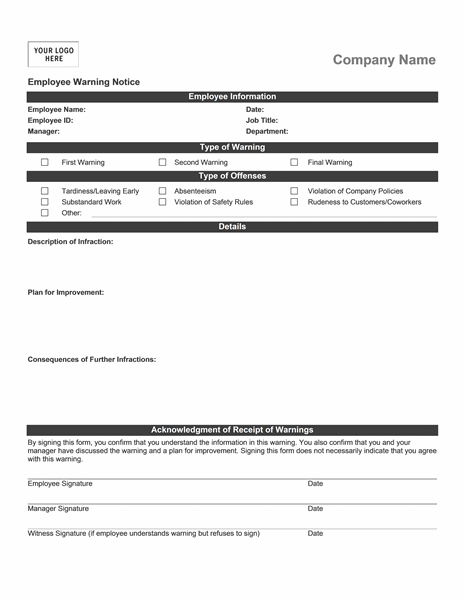 employee warning form free pike productoseb co