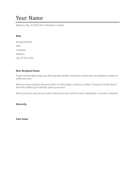 Resume Cover Letter Format 11 Contact Information And Exles