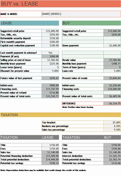simple lease calculator