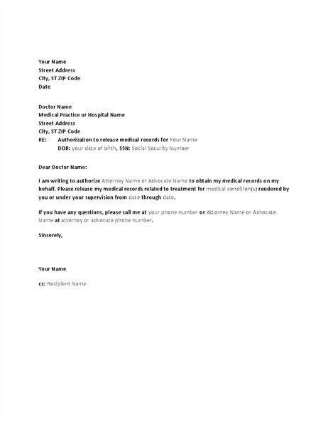 Letter to release medical records new doctor letternew release of records letter radiotodorock tk sample letter requesting medical records business request referral another doctor template with expocarfo Images