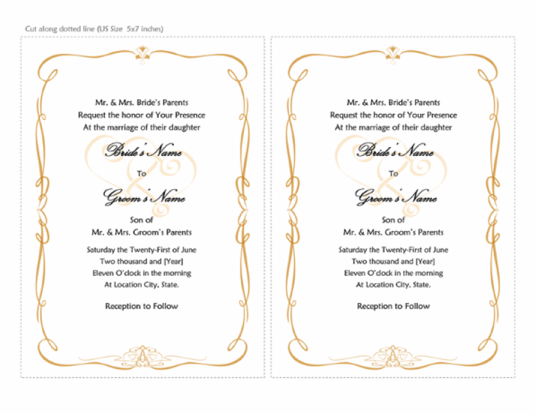 Digital Watercolor Free Invitation Card Templates For Word Wedding Invitations Destination