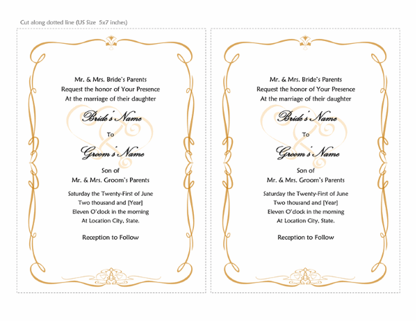 Ms Word Invitation Template