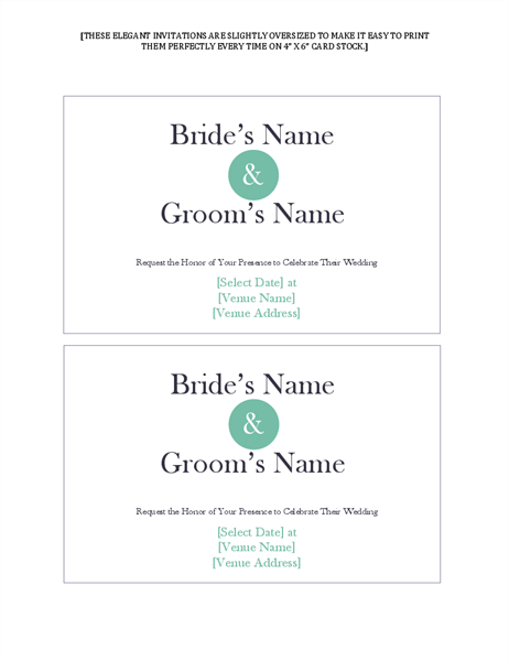 Wedding Response Cards 3 Per Page