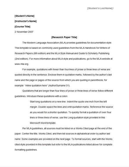 Apa Style Research Paper Template Hospi Noiseworks Co