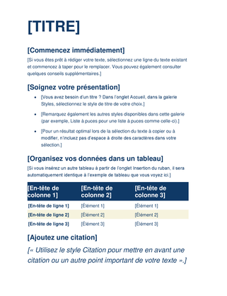 Documents Et Rapports Officecom