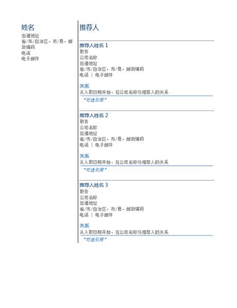 簡單履歷表