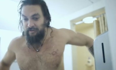 Watch: Jason Momoa wet in behind-the-scenes SNL video