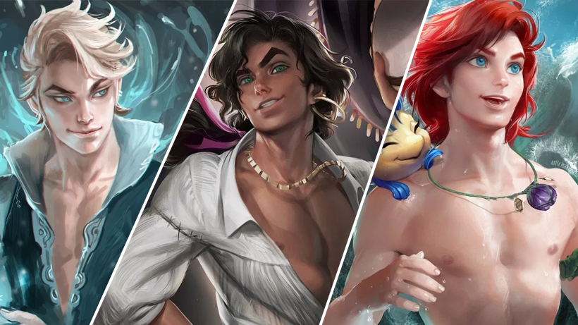 These gender-bent Disney characters are going to make your heart race