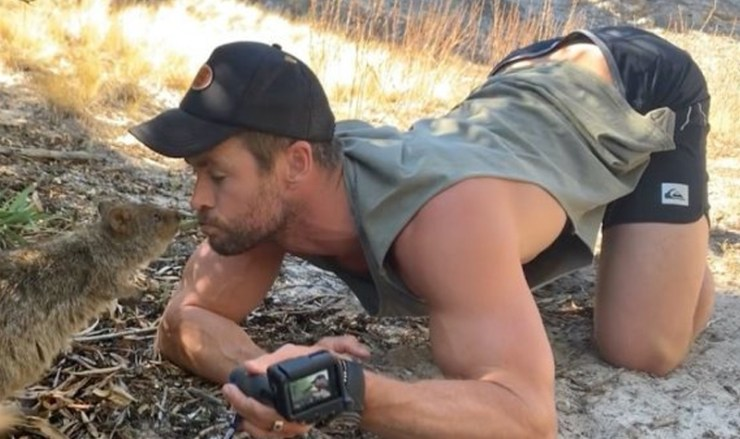 Let's just appreciate Chris Hemsworth's viral back arch as the energy we need