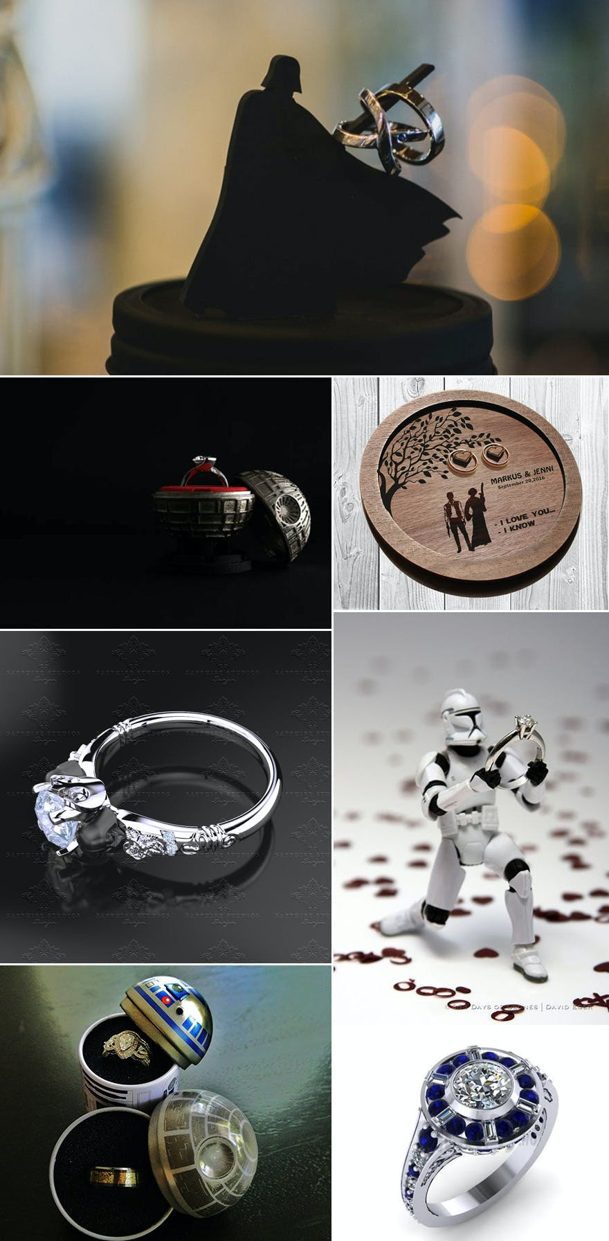 Holder Star Wedding Ring Wars