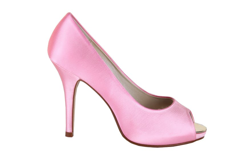 Barbie Pink Wedding Shoes with Open Toe by Rainbow Club