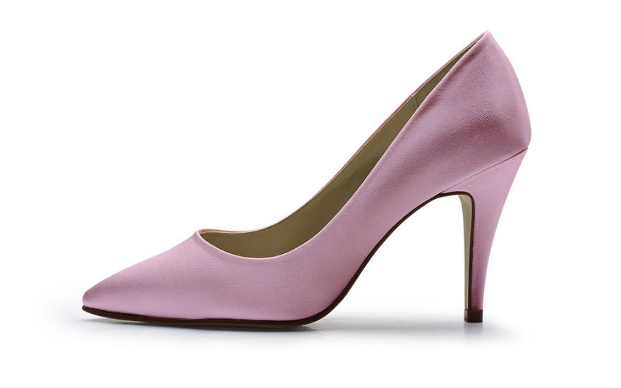 Rose Pink Wedding Court Shoes by Rainbow Club