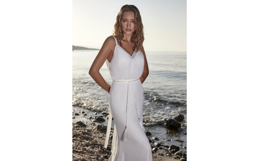 Simple Beach Wedding Dress by Herve Paris