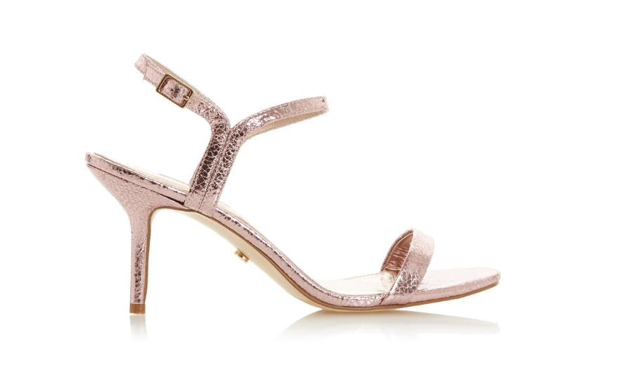 Mid Height Heel Wedding Shoes with Ankle Strap by Dune
