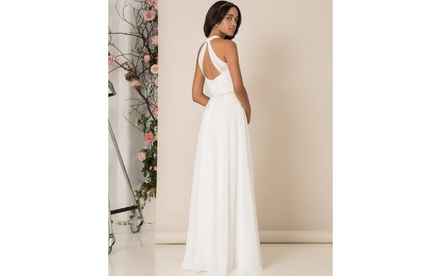 Open Back Halter Neck Wedding Dress by Kelsey Rose