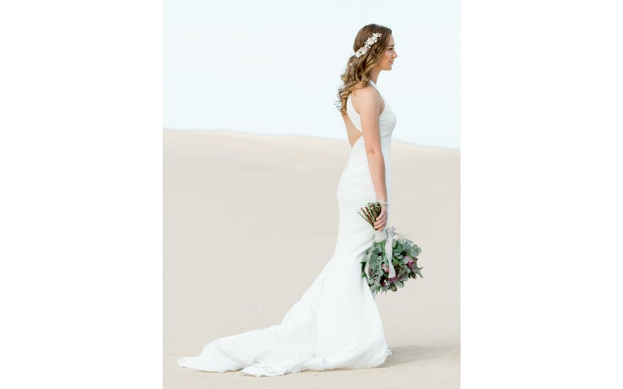Fishtail Wedding Dress with Open Back by Wendy Makin