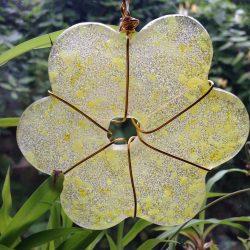 "Small glass flower (""mini"") yellow dense"
