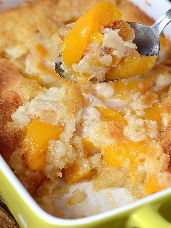 Easy Peach Cobbler Recipe OMG Chocolate Desserts