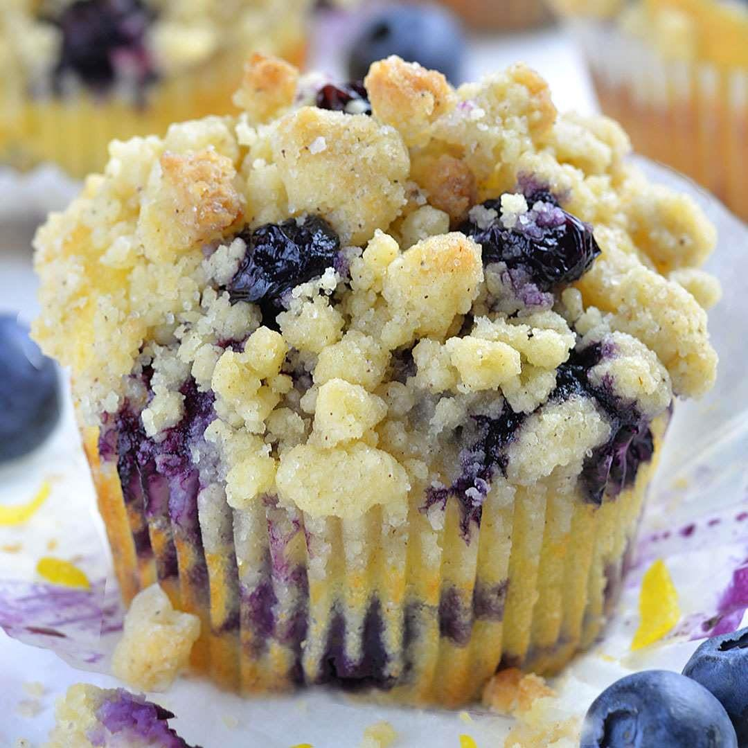 Lemon Blueberry Muffins OMG Chocolate Desserts