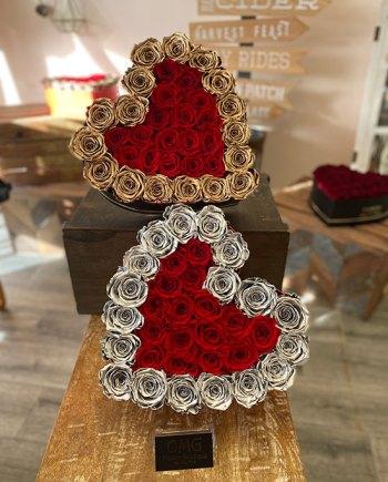 Valentines Forever Roses Big Heart