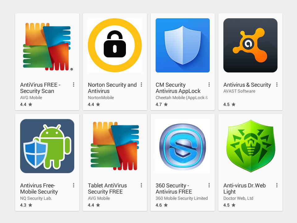 List Of  Free Android Antivirus Apps For 2018