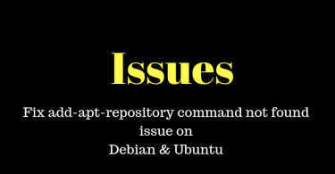 Fix add-apt-repository command not found issue on Debian & Ubuntu