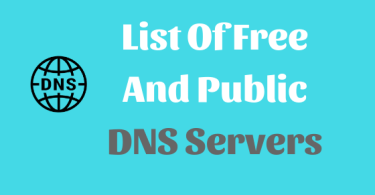 List Of Free And Public DNS Server