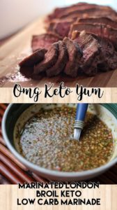 Low carb keto marinade for London Broil steaks and other meats