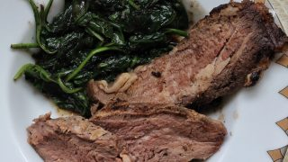 Browned Butter Spinach with Nutmeg