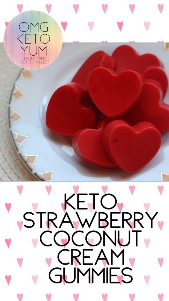 OMG KETO YUM Strawberry Coconut Cream Gummies