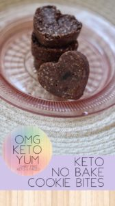 Keto No Bake Cookie Bites