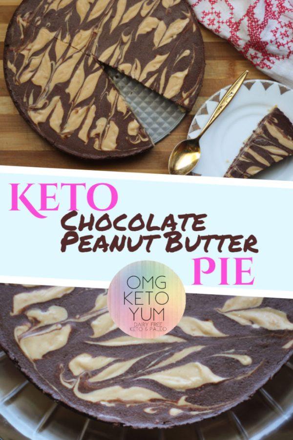 Chocolate Peanut Butter Pie OMG KETO YUM