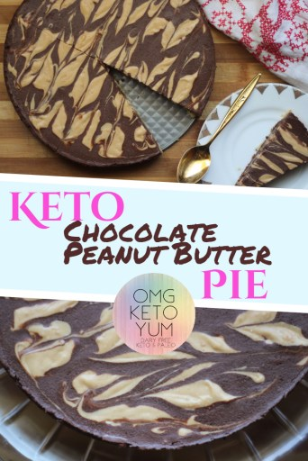Keto Chocolate Peanut Butter Pie