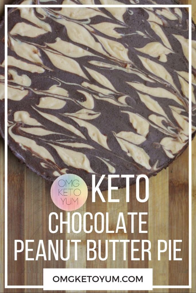 Keto Chocolate Peanut Butter Pie. This keto pie is delicious and low carb. Keto Chocolate never tasted this good! Have your keto and eat your pie too!