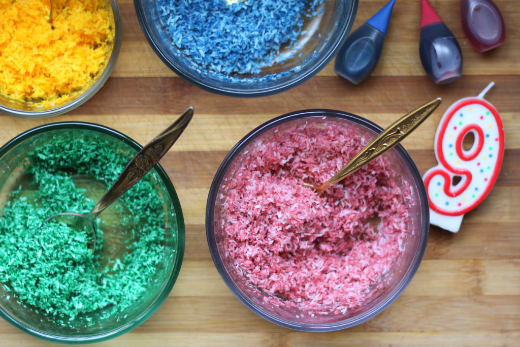 Sugar Free coconut keto rainbow sprinkles