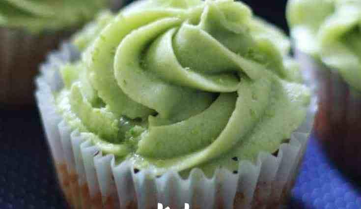 Keto Key Lime Cupcakes