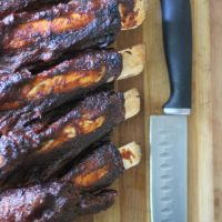 Beef Back Ribs: Keto Style, Pressure cooked with a Keto BBQ Sauce