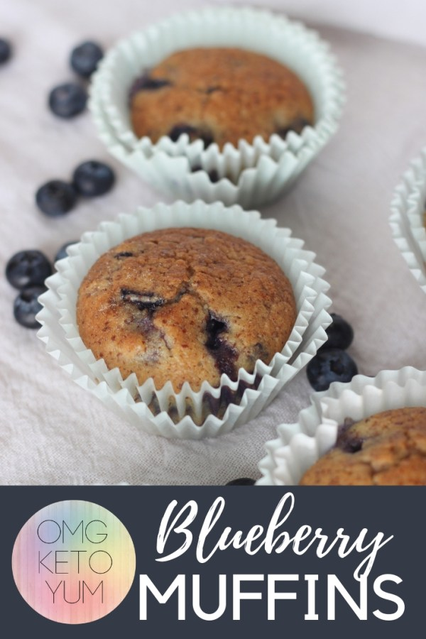 Healthy Blueberry Muffins that are low carb and keto.