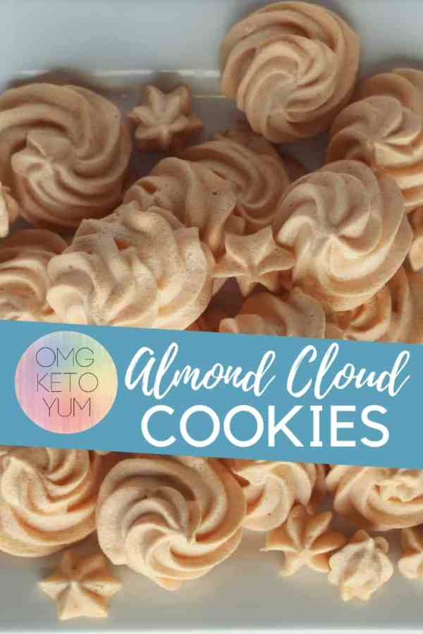 Almost Zero Carb Almond Cloud Cookies! These keto cookies have a light crunch on the outside and a soft inside that you are going to love!