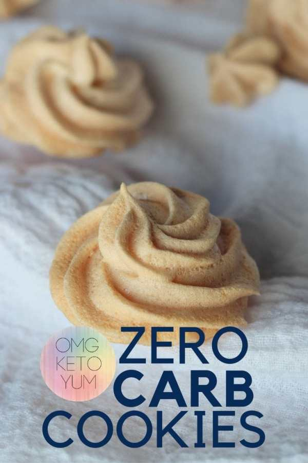 Zero Carb Cookies! Almond Dream Keto Cookies that are crunchy on the outside and soft on the inside. These keto cookies are so good!