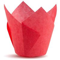 Tulip Cupcake Liners, Natural Baking Cups for Standard Size Cupcakes and Muffins Liners (300, Red)