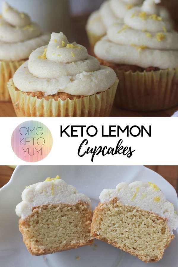 Lemon Cupcakes with Dairy free frosting. Easy Low Carb Lemon Cupcakes.