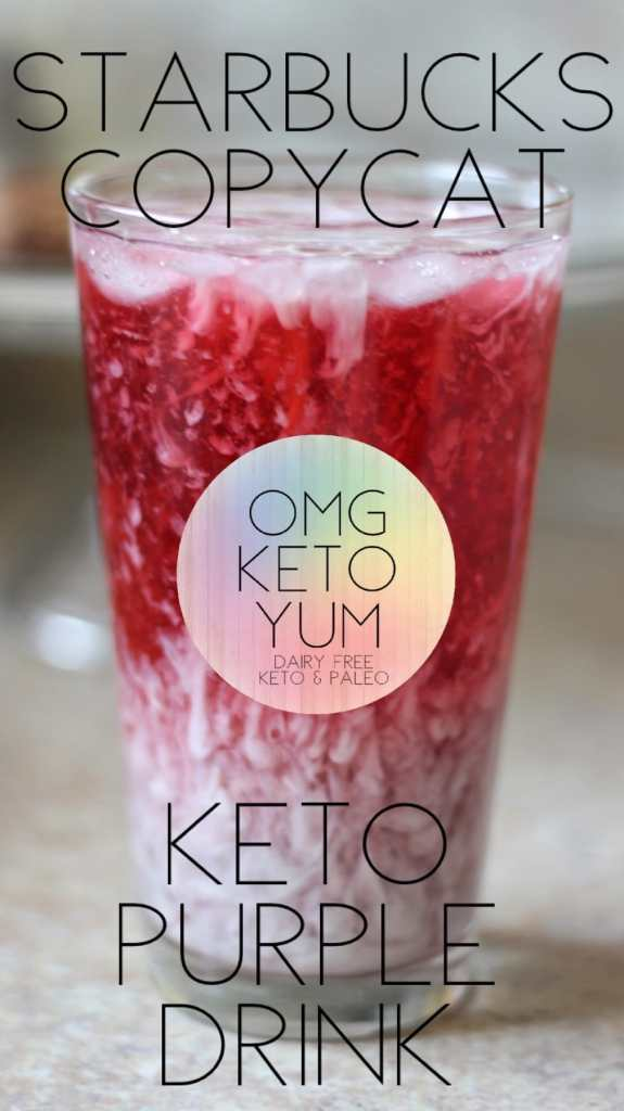 This Starbucks Copycat Purple Drink does not skimp on flavor while keeping super low carb. Keep your keto diet and enjoy a refreshing starbucks copycat made at home.