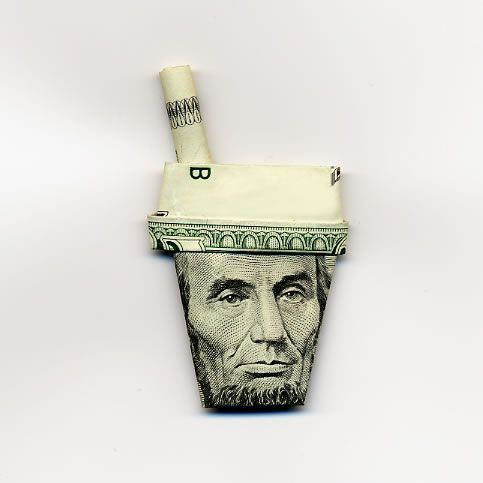 abraham lincoln united states five dollar bill moneygami.jpg