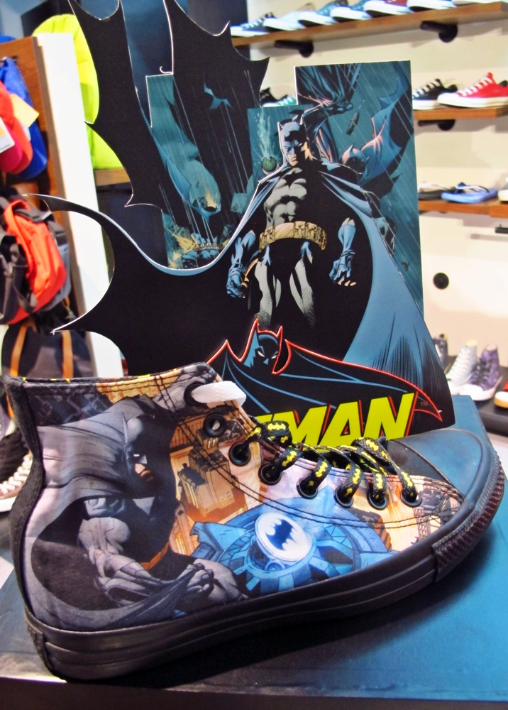 2de50332407d The Converse Chuck Taylor All Star Batman sneaker showcases the intriguing  artwork designed by British comic artist Jock. Featuring two bold  illustrations ...