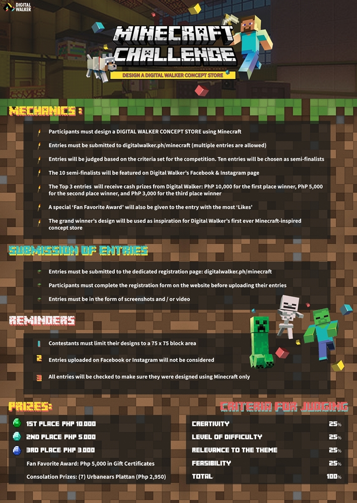 Digital Walker Minecraft Challenge Contest Mechanics