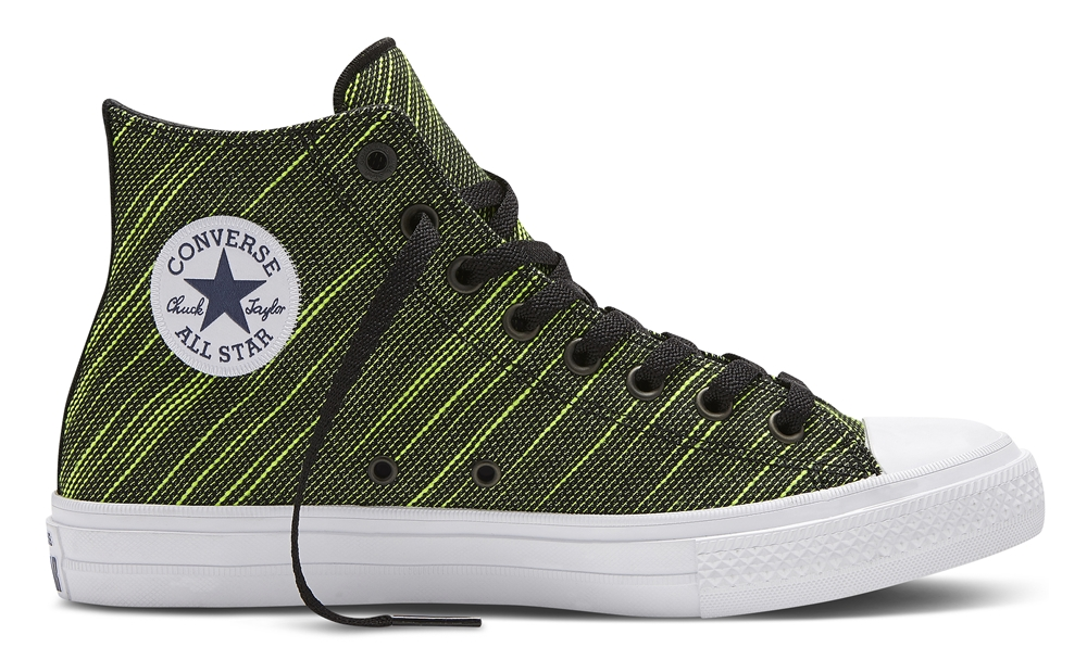 a9b54f29249 The new Converse Chuck II Knit Sneakers are available in the following  colors  Volt Green  High cut Volt Green