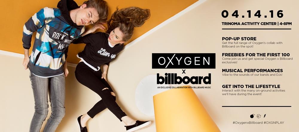 Oxygen x Billboard Evite